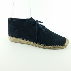 Dolce Vita Size 9 Navy Suede Lace Up Loafers S24-9